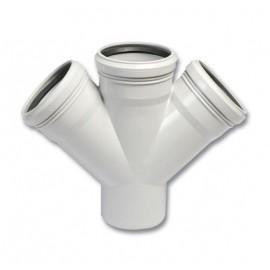 PP Atıksu Çift Çatal (75x50 mm)