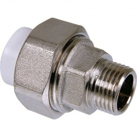 "Metal Male Threaded Union (Hexagonal Shaped) (25x3/4"")"