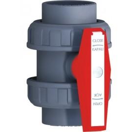 U-PVC EDE Tipi Yapış.Küresel Su Vanası (75 mm)